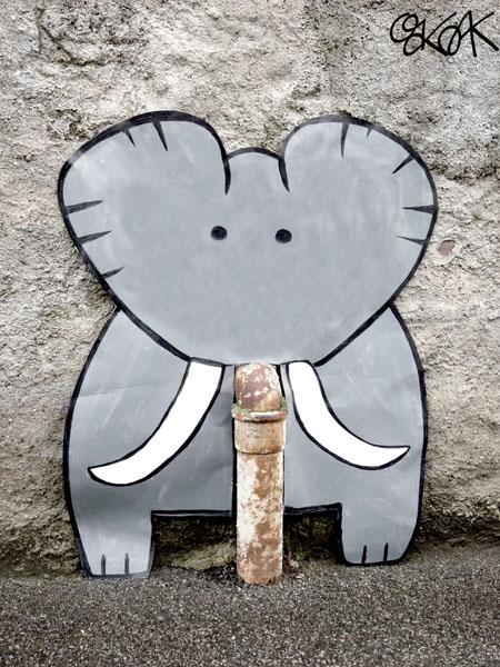 The elephant by Oakoak