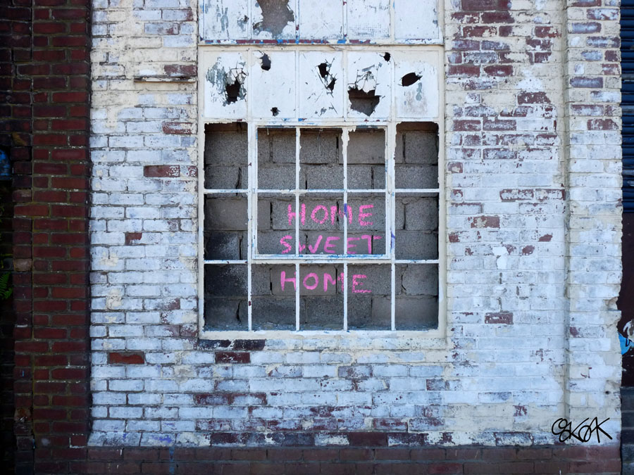 Home, sweet home by Oakoak - done in Newcastle