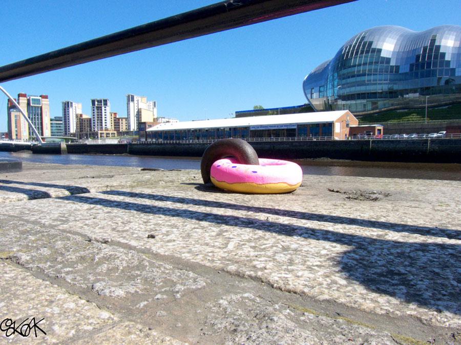 Ooooh, donuts !!! by Oakoak - Newcastle, England, 2012