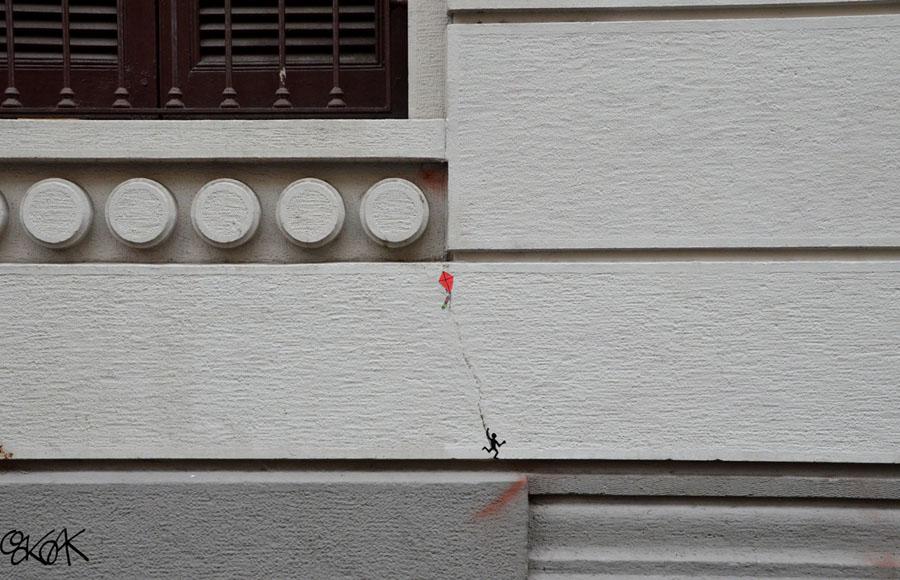 Le cerf-volant by Oakoak - Milano, Italia 2013