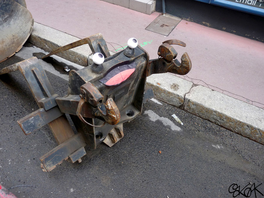 Le crabe aux pinces rouillées by Oakoak