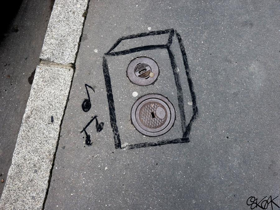 Drôle d'égout musicaux by Oakoak