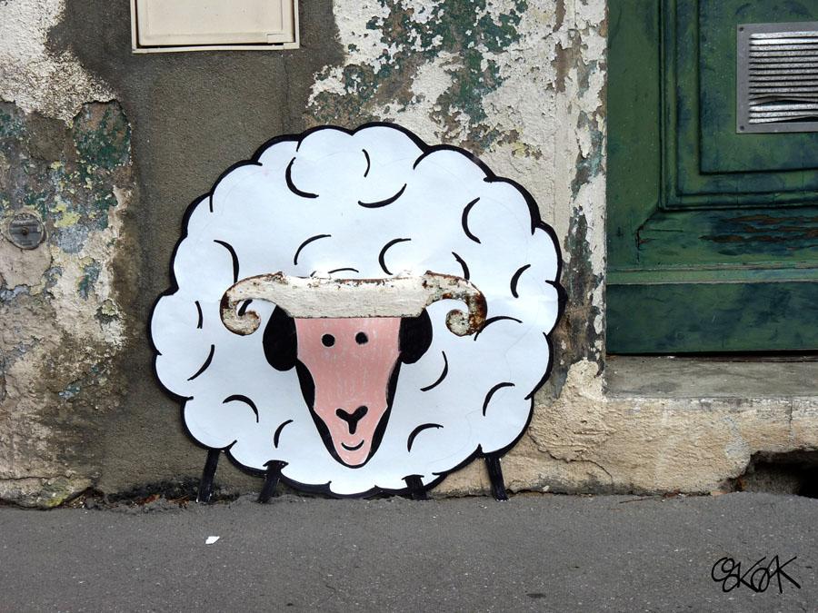 The big sheep by Oakoak