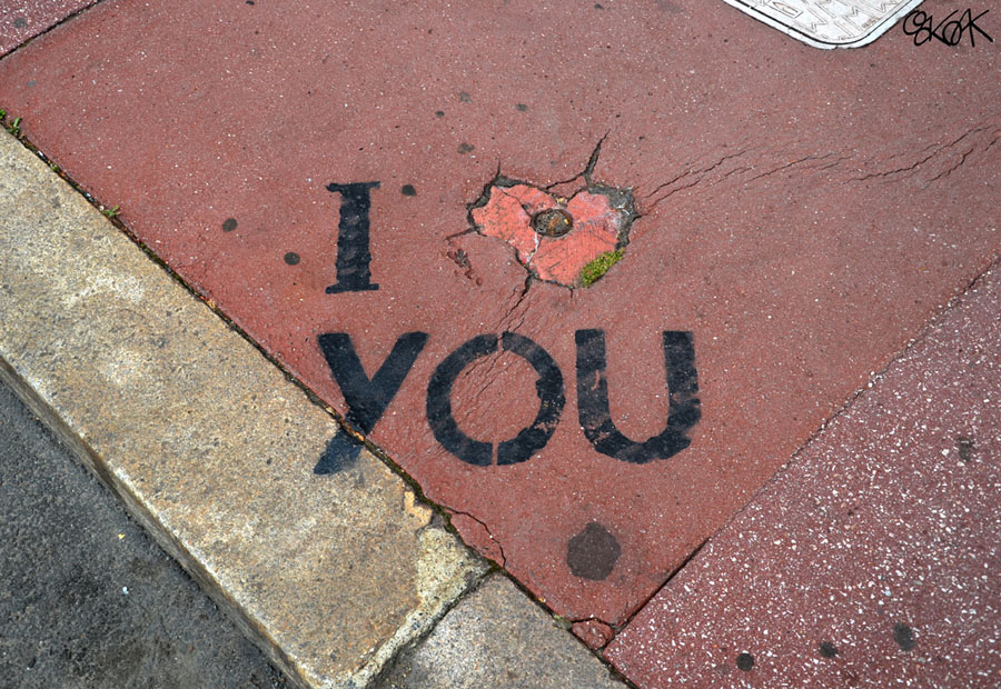 I love you by Oakoak - Saint Etienne, France, 2012