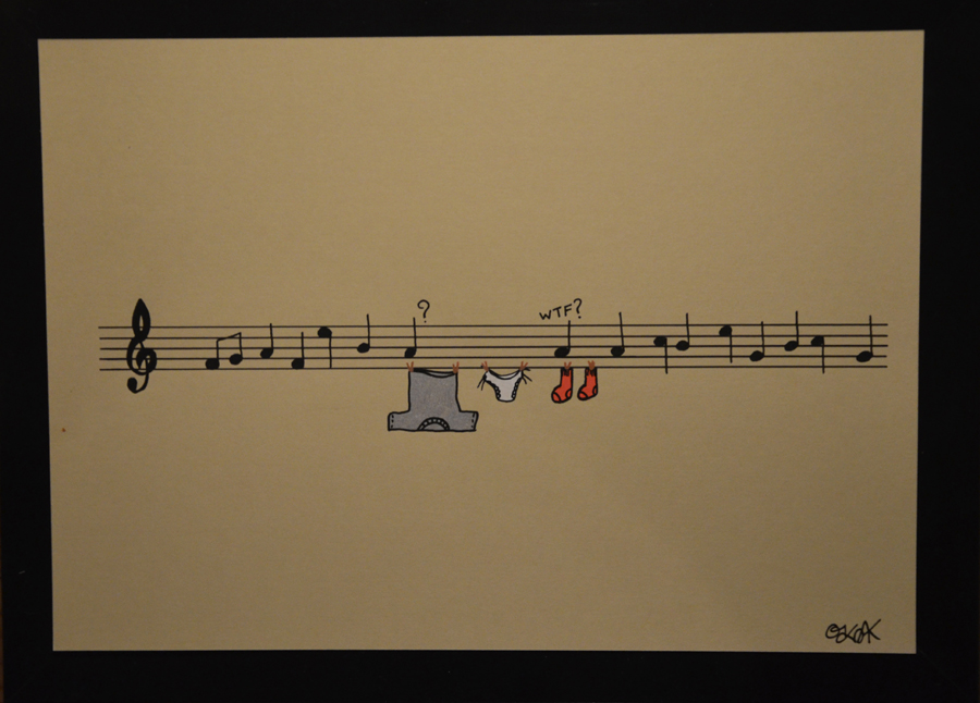 Life is music n°4 by Oakoak - papier cartonné, format A4