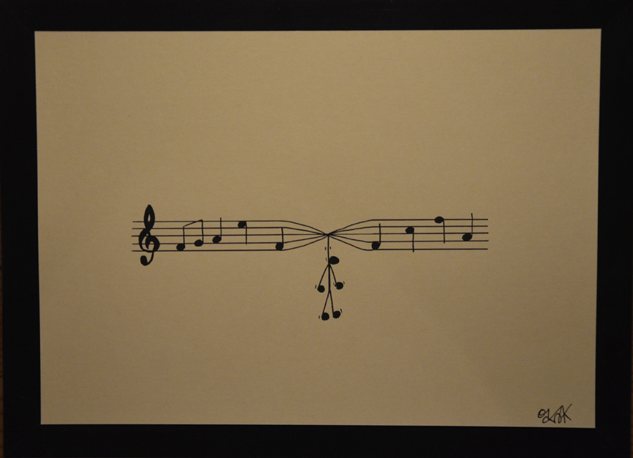 Life is music n°3 by Oakoak - papier cartonné, format A4