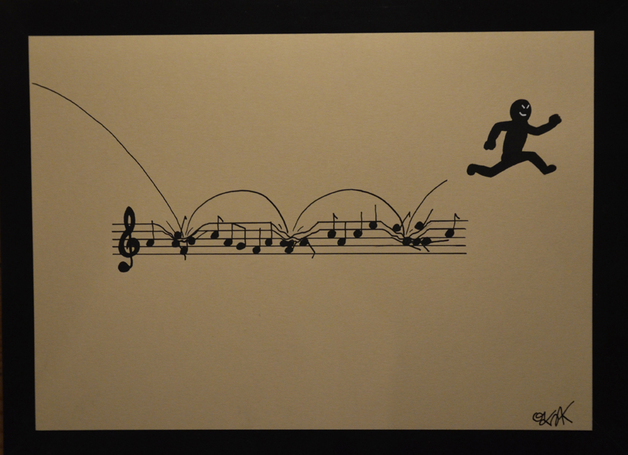Life is music n°9 by Oakoak - papier cartonné, format A4