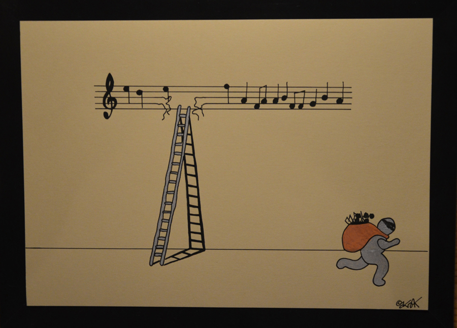 Life is music n°5 by Oakoak - papier cartonné, format A4