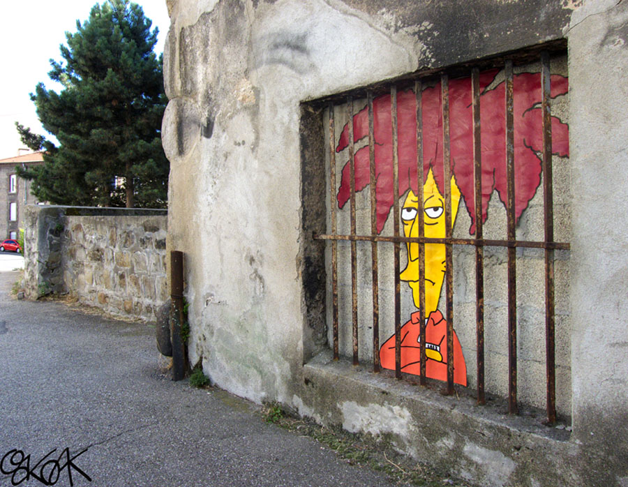 Sideshow bob by Oakoak - France 2013
