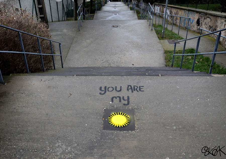 You're my sunshine by Oakoak - Saint Etienne, France, 2013