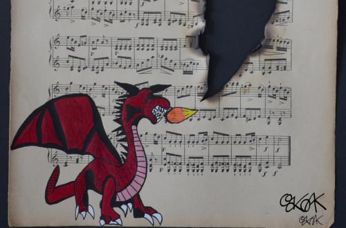Dragon bu Oakoak street art