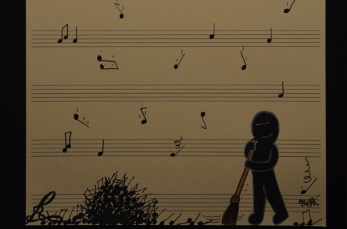 Life is music by Oakoak french street artist