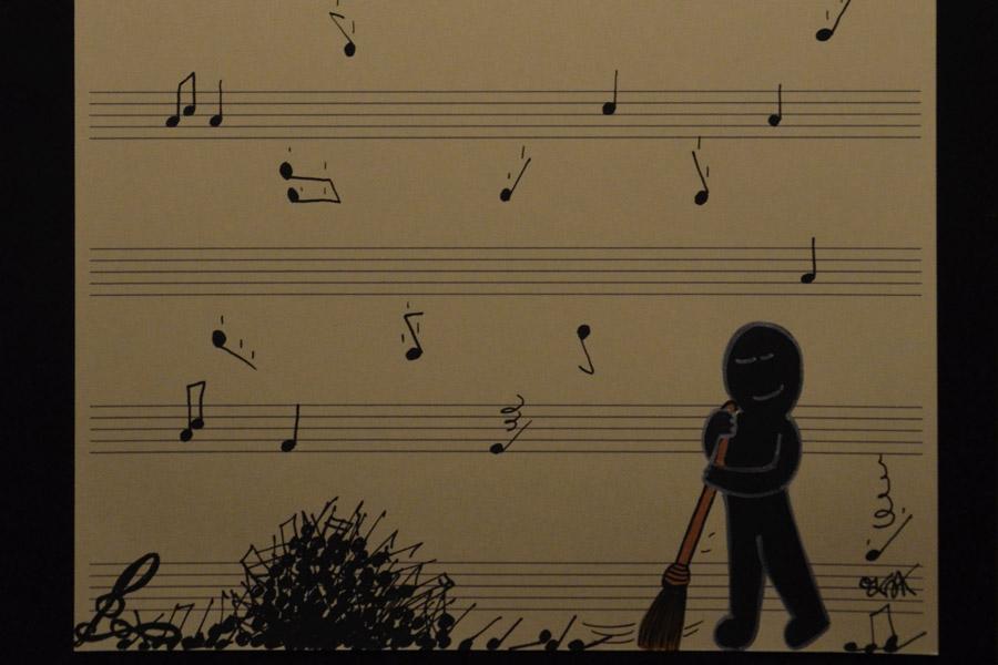 Life is music by Oakoak french street artist