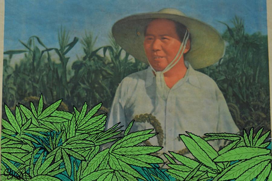 Mao propagande by Oakoak street art