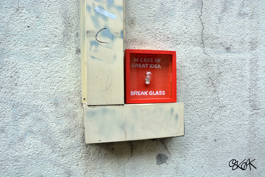 In case of great idea by Oakoak - France, Octobre 2014