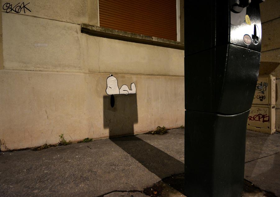 Peanuts by Oakoak, Saint Etienne, France, Février 2015