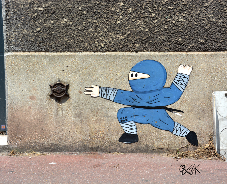 Ninja star by Oakoak - Malakoff, France, Juillet 2015