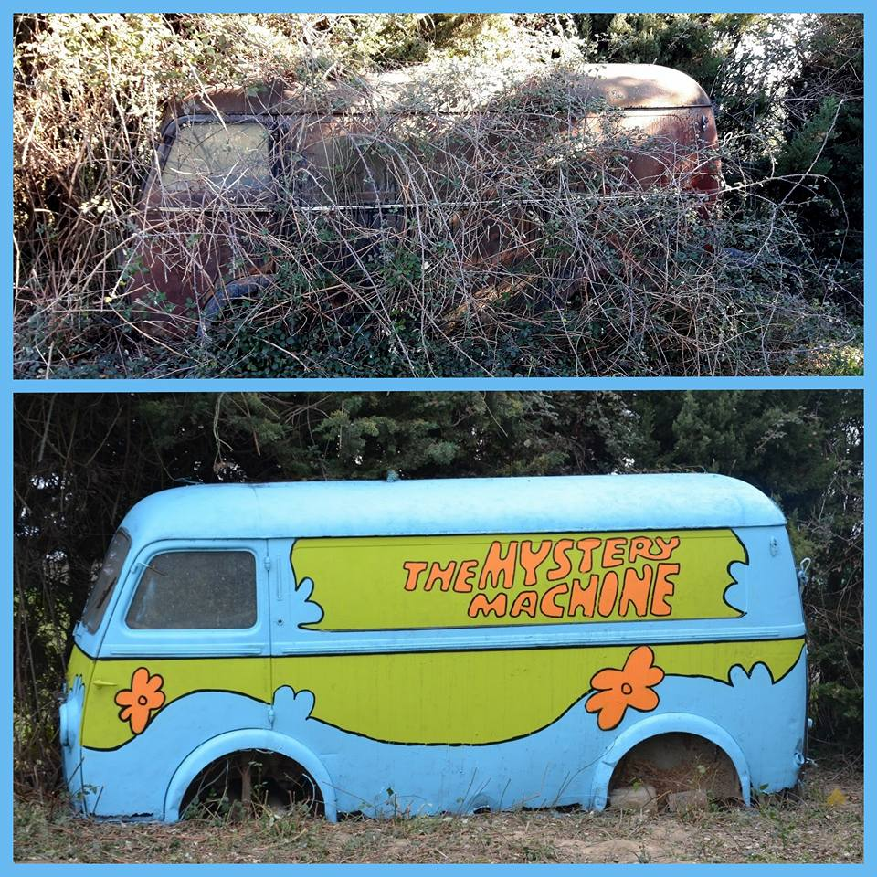The mystery machine by Oakoak - Sud de la France, Février 2015