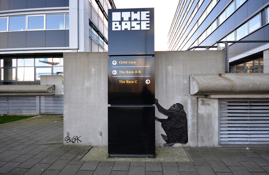 2001 the space odeyssy by Oakoak - Amsterdam, Novembre 2015
