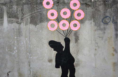 flying donuts homer