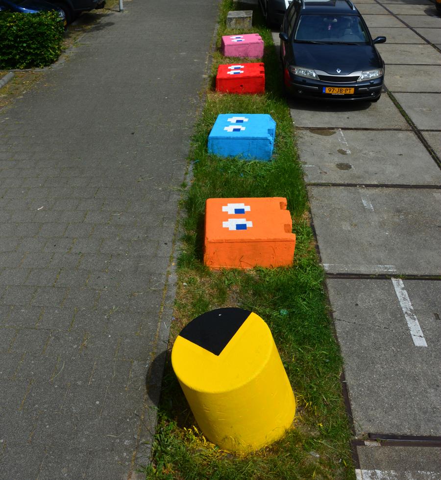 Pac man by Oakoak - Amsterdam, juin 2016