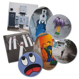 Lot de 7 stickers Oakoak
