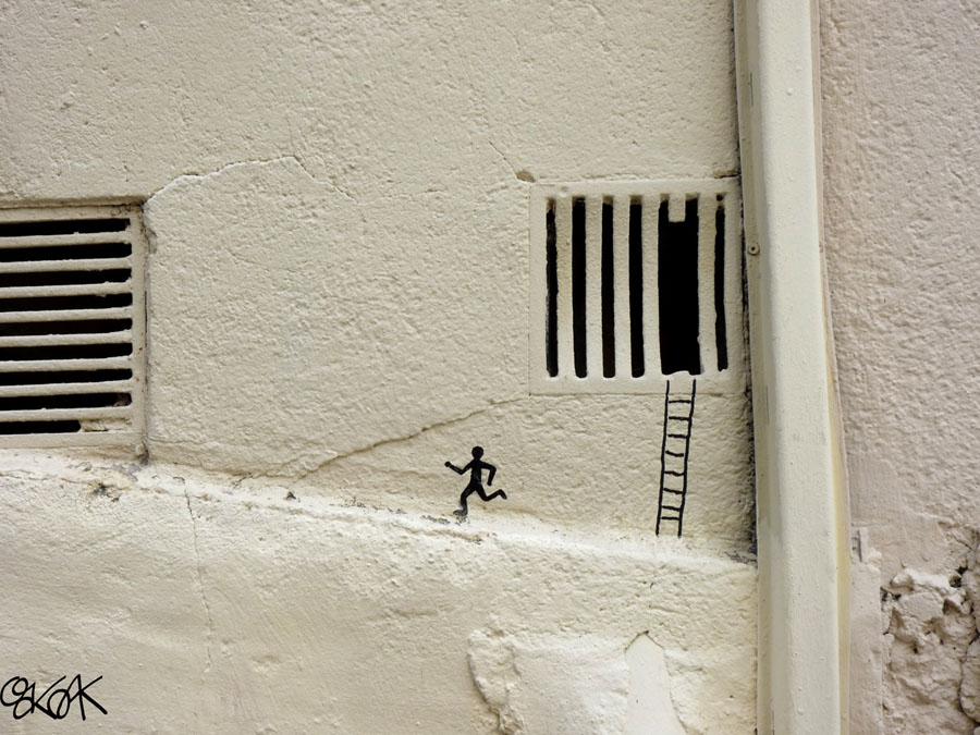 The escape by Oakoak - Lyon, France 2012