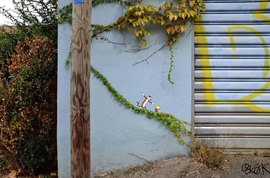 Calvin et Hobbes by Oakoak - France 2012