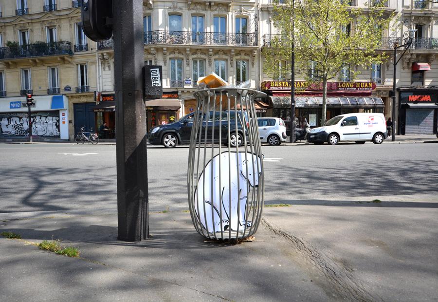 Polar bear in the modern world by Oak oak - Paris, France, Avril 2014