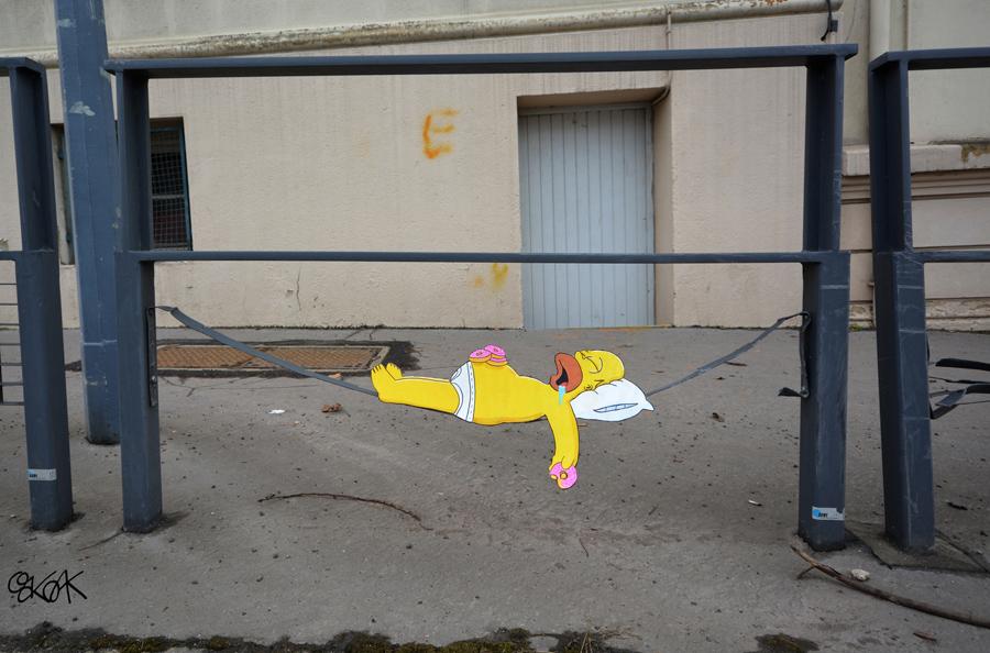 Homer by Oakoak - France, Mars 2015