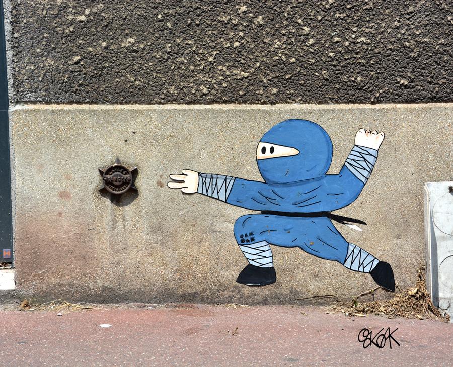 Ninja star by Oakoak - Malakoff, France, Juillet 2015