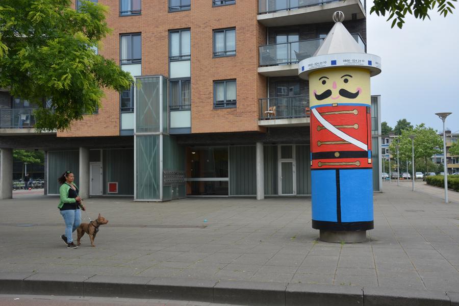 The giant soldier by Oakoak - Amsterdam, Juin 2016