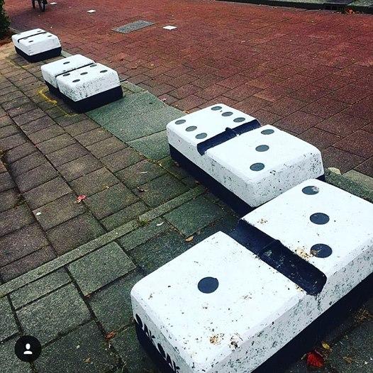Domino by Oakoak - Amsterdam, Juin 2016