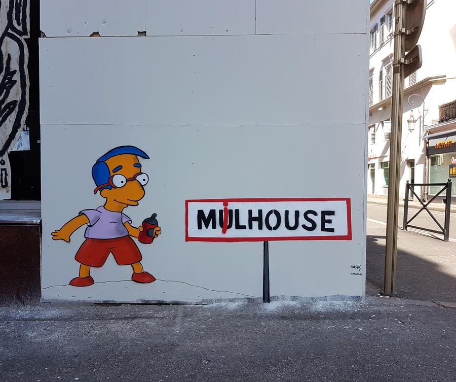 Milhouse in Mulhouse by OAKOAK - mulhouse france - september 2017