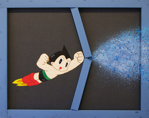 Astroboy Explosion blue