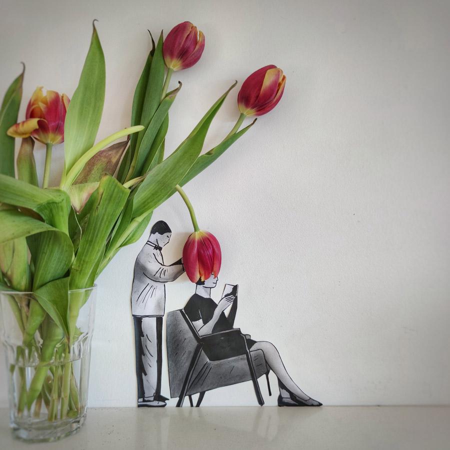 Le Coi-fleur by Oakoak