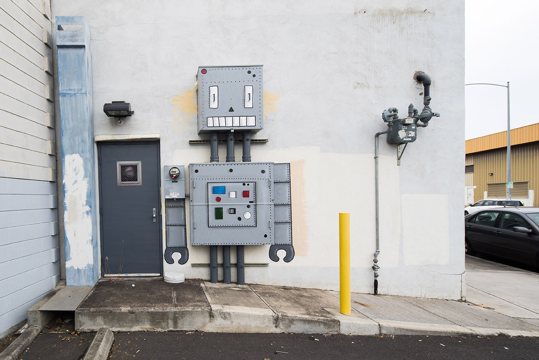 The robot - Pow-Pow festival - Hawaii - February 2017 by Oakoak